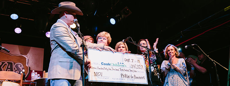 Check for NICU from Pickin' for Preemies event