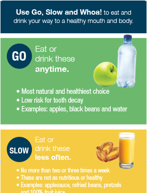 Healthy tips poster – English and Spanish