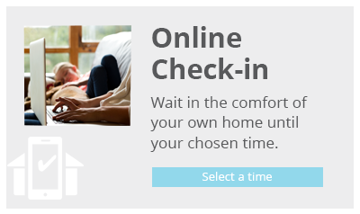 Online Check-in button