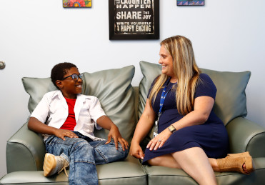 Young patient with Cortney Wolfe-Christensen