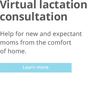 Virtual lactation consulting button